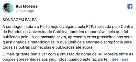 Rui Moreira - Sondagem Falsa