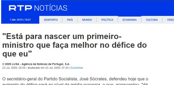 Está para nascer um primeiro ministro que faça melhor no défice do que eu Economia RTP Notícias (1)