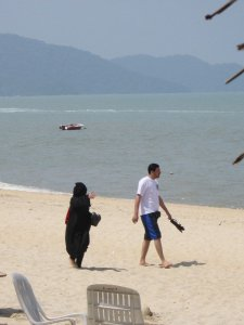 7871052-The-Black-Burka-Beach-goer-She-actually-went-in-the-water-after-1